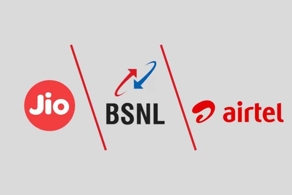 Airtel Vs Reliance Jio Vs Vi Vs BSNL Prepaid Plan
