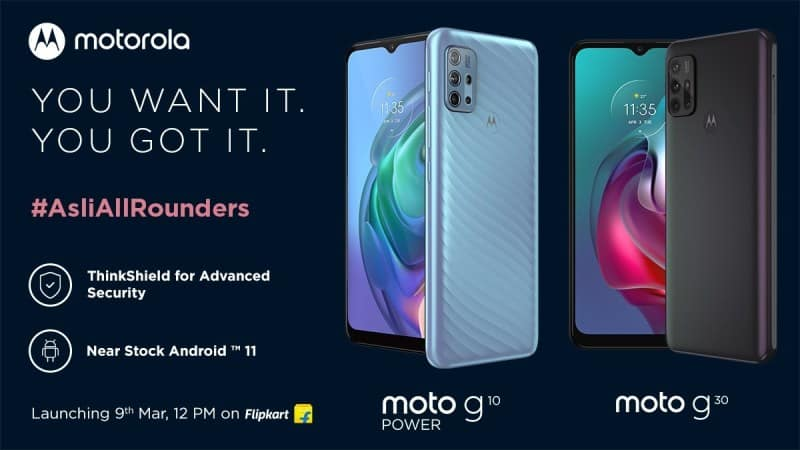 Moto G10 Power and Moto G30 set to launch in India on March 9