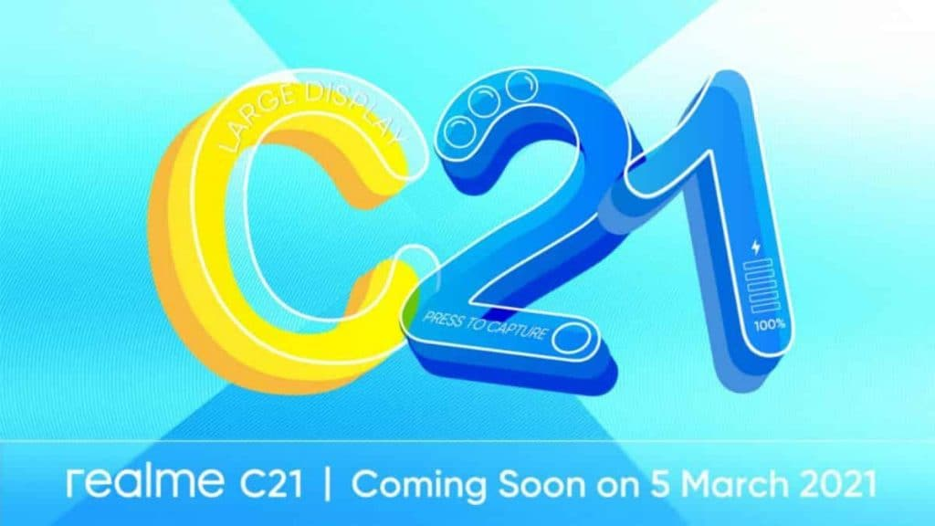 Realme C21 with triple rear cameras, 5,000mAh battery launched