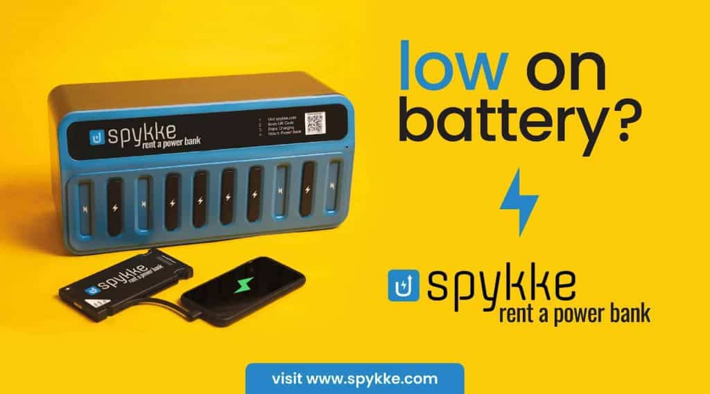 Spykke A service that provides you power banks on rent