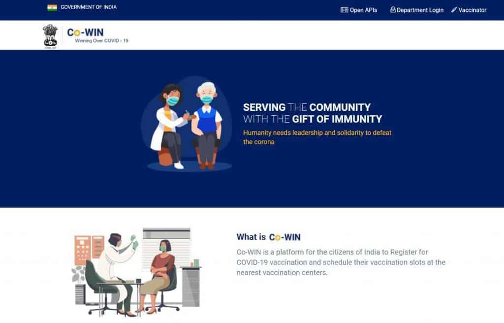 cowin site - updatenews360