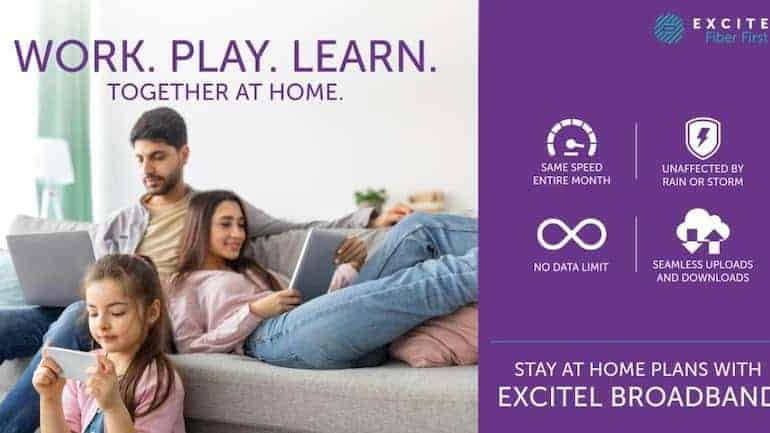 Excitel launches three new stay-at-home bundle data plans