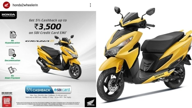 Honda Grazia 125 BS6 available with cashback