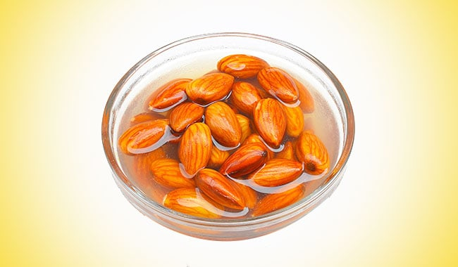 why to soak badam in water