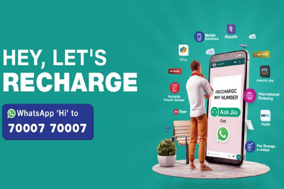 Jio users can now recharge mobile number using WhatsApp