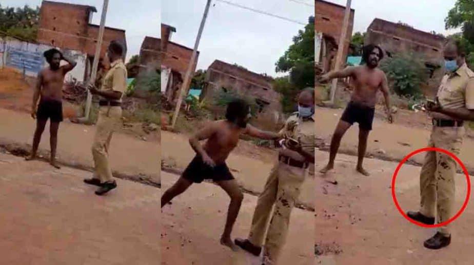 Police Attacked By Durunken Man - Updatenews360