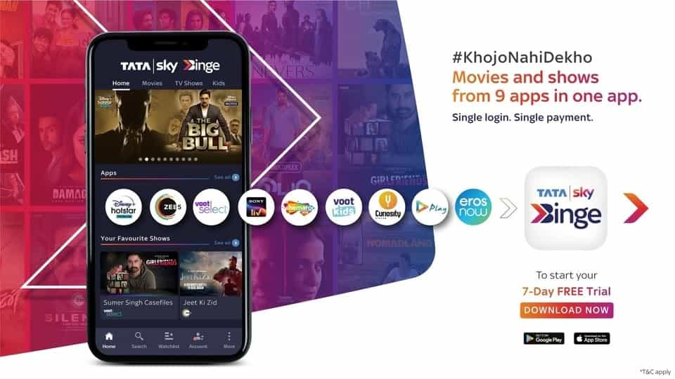 Tata Sky Binge app for Android and iOS launched