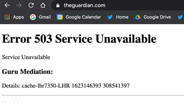 The Guardian, CNN, other global media websites down