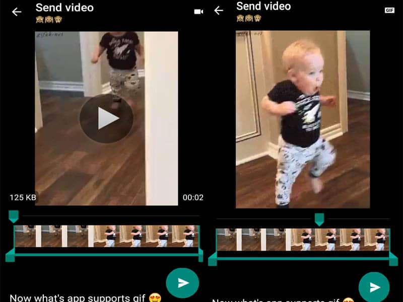 how to convert video as gif in whatsapp