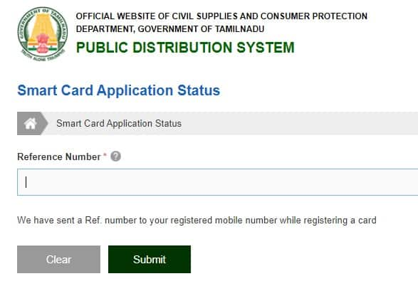 Apply Ration Card Online TNEPDS online
