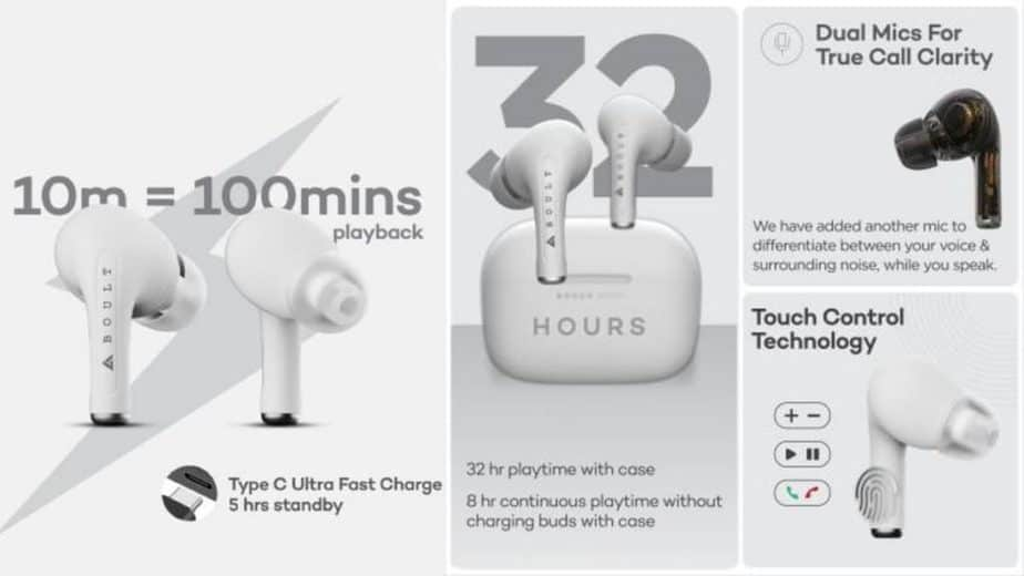 Boult Audio Freepods Pro TWS earbuds with 32-Hour Battery Life launched