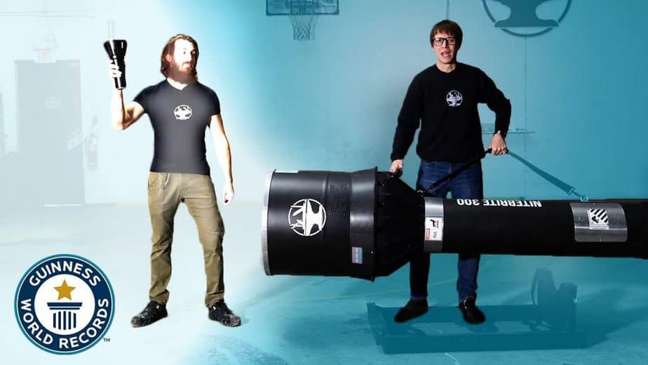 Canadian inventor Hacksmith creates the world's brightest flashlight