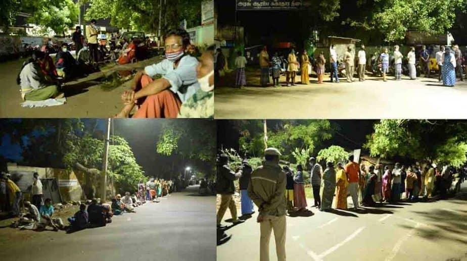 Public Waiting in Night - Updatenews360