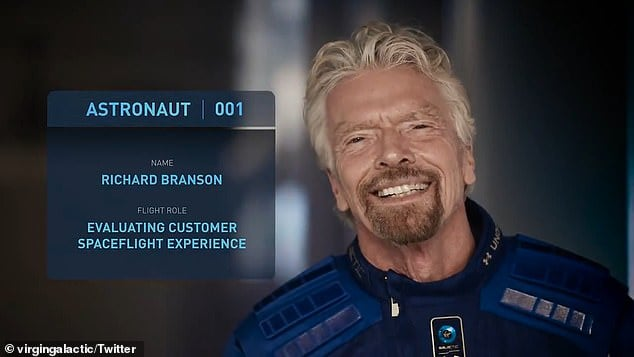 Richard Branson will travel into space on July 11
