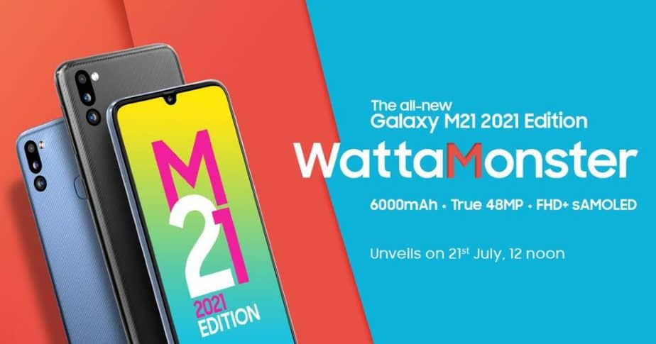 Samsung Galaxy M21 2021 with 6000mAh battery launched in India