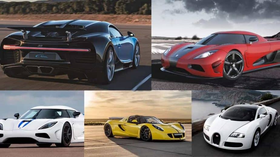 The top 5 fastest cars in the world
