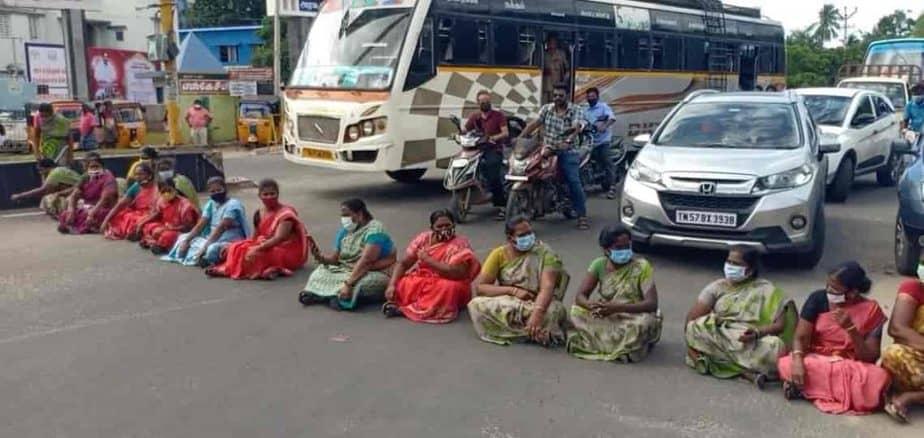 amma unavagam Ladies protest - updatenews360