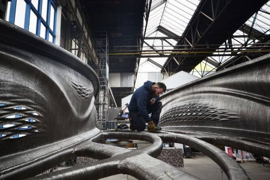 World's first 3D-printed steel bridge opens to public in Amsterdam