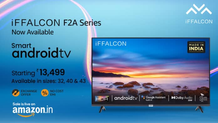 iFFALCON F2A Series TVs launched in India