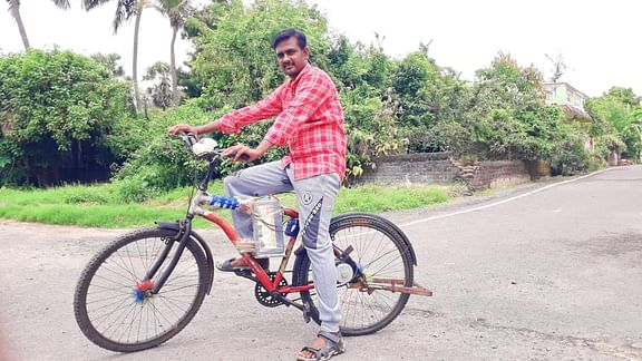 vilupuram youngster made an electric battery cycle