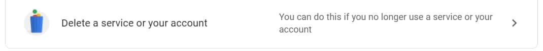 How to delete Google account